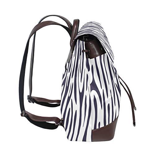 Zebra tryck ryggsäck handväska mode PU-läder ryggsäck ledig ryggsäck för kvinnor