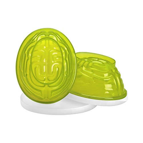 Sweet Creations 2 Count Halloween Gelatin Brain Mold, Green]()
