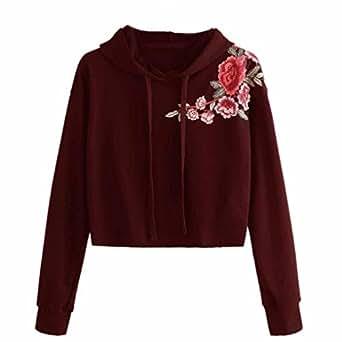 Cinnamou sudadera con capucha para mujer ropa top de for Cancion jardin de rosas en ingles