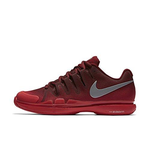 Nike Mens Zoom Vapor 9 5 Tour  Team Red Metallic Silver  10 M Us