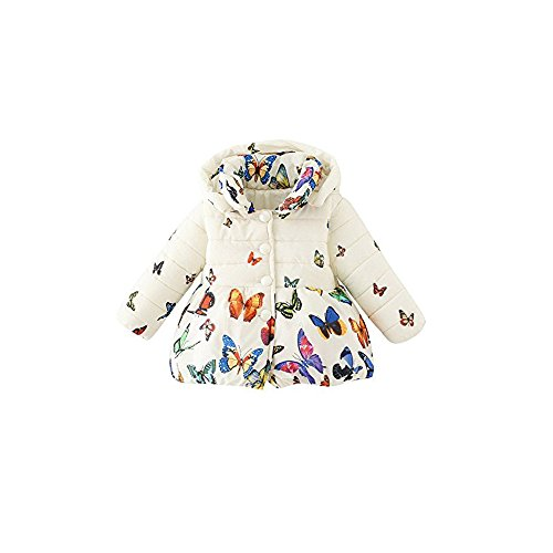 Price comparison product image A&E Coat Toddler Jacket Outwear Baby Girl Butterfly Pattern Winter Clothes (Size 12)