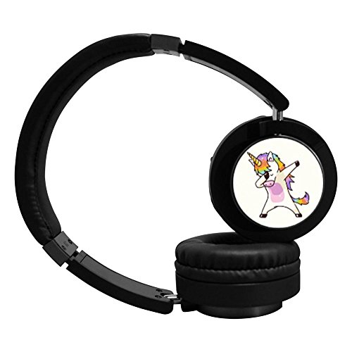 Unicorn Dabbing Funny Dab Dance Bluetooth Headphones Over Ear, Hi-Fi Stereo Wireless Headset
