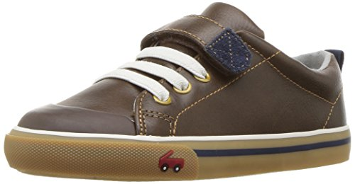 Brown Boys Sneakers - See Kai Run Boy's Stevie Ii Sneaker, Brown Leather, 7 M Toddler