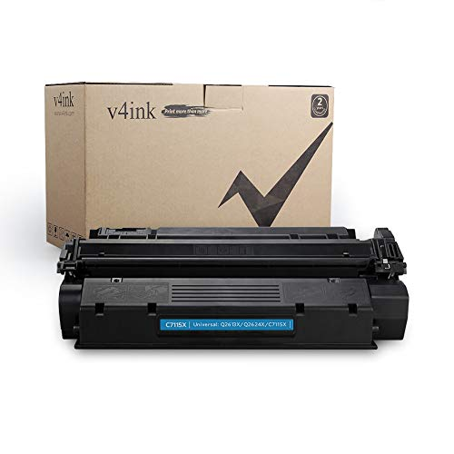 V4INK New Compatible High Yield C7115X Toner Cartridge Replacement for use with HP 15X HP Laserjet 1000 HP Laserjet 1005 1150 HP Laserjet 1200 1300 HP Laserjet 3300 3310 3320 3330 3380 Printer