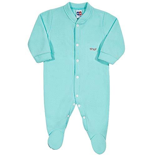 Macacão Pijama Liso Bebê Verde Claro Rn