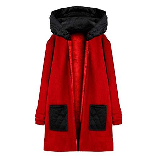 À Femmes Veste Manches 2018 Mi Matelassée Capuche Longues Ceinture Cdoudoune longue Meibax Rouge Manteau Tendance x4qUw5tWUF