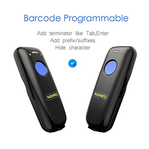 NADAMOO 3-in-1 Barcode Scanner (Bluetooth & 2.4G Wireless & Wired Connection) USB 1D Mini Portable CCD Bar Code Reader Computer, Tablet, Smartphone Work Windows, Mac, Linux, Android, iOS by NADAMOO (Image #5)