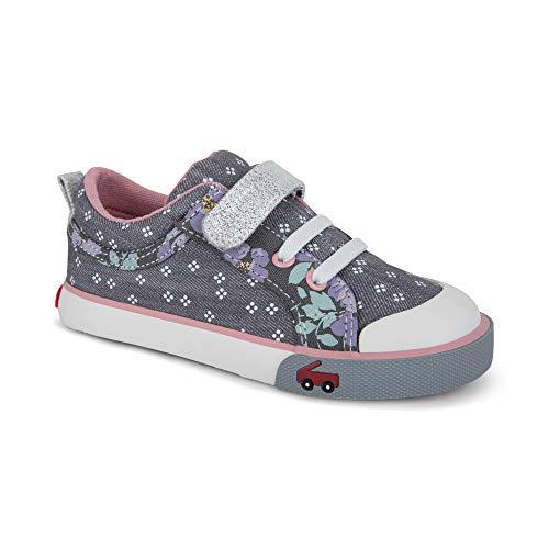 See Kai Run Girls' Kristin Sneaker, Gray Denim Mix, 4 M US Toddler ()