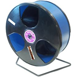 "Rodent - Semi-Enclosed Exercise Wodent Wheel 'Wobust' 12"" Blue"