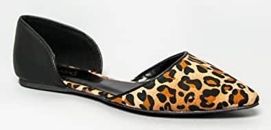 Breckelle's DOLLEY-03 / Qupid POINTER-15X / Qupid POINTER-36 Designer Inspired Pointy Toe d'Orsay Flat