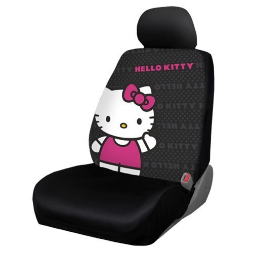 Amazon New Design 8 Pieces Hello Kitty Car Seat Cover With 4 Rubber Mats Steering Wheel And Air Freshener Automotive