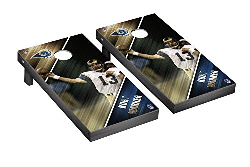 NFL Los Angeles Rams Kurt Warner FGA Version Corn hole Game Set, One Size by Victory Tailgate