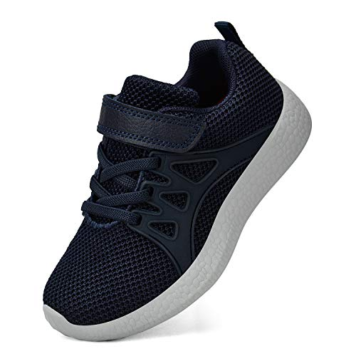Biacolum Sneakers for Boys Mesh Vamp Breathable Big Boys Shoes Navy 9 M US Toddler