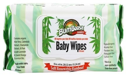 Bum Boosa Bamboo Baby Wipes 80 ea(Pack of 2)
