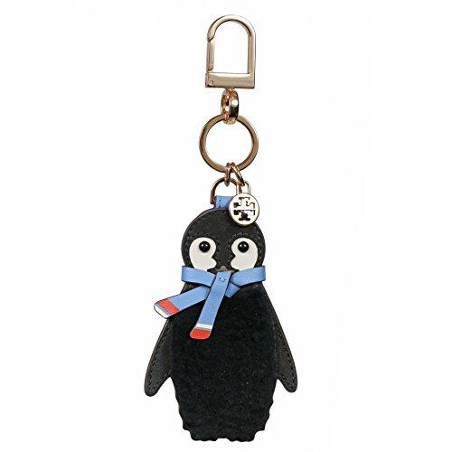 Tory Burch Keychain Penguin Keyfob Leather Gold TB Logo (Keychain Tory Burch)