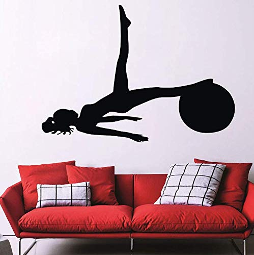 Amazon.com: Wall Stickers Women with A Ball Pilates Wall ...