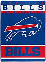 "The Northwest Company Officially LicensedNFL Buffalo Bills 12th Man Plush Raschel Throw Blanket, 60"" x 80"