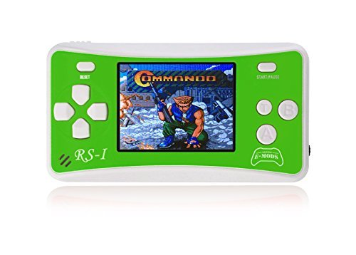 Hisonders 2.5 Color Display Retro Portable Handheld Video Game Console Built in 162 Games (Green)