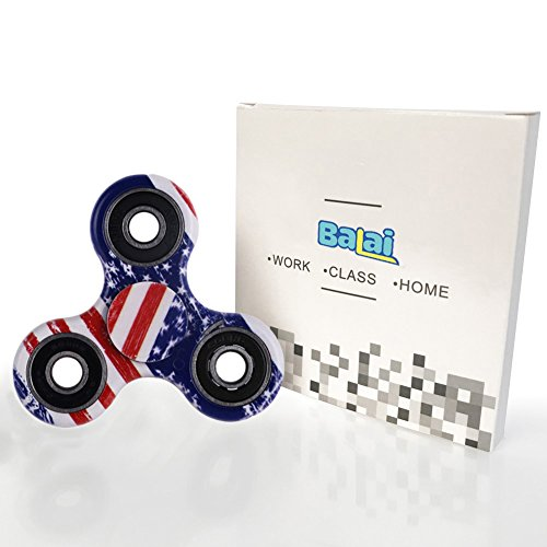 Balai Fidget Toy Hand Spinner Camouflage, Stress Reducer Relieve Anxiety and Camo (Flag Color)