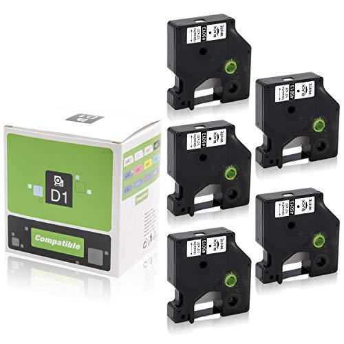 DYMO Standard D1 Labeling Tape Black print on White 1//2/'/' W x 23/' L 45013 2 PACK