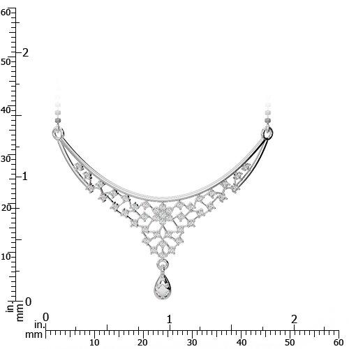 Or blanc/or jaune/Platinum-Collier Femme-diamant mangalsutra dnc-1739-vsgh