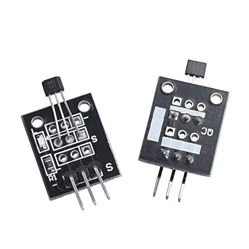 HiLetgo 5pcs Hall Effect Magnetic Sensor Module 3144 Hall Effect Sensor  KY-003 DC 5V for Arduino PIC AVR Smart Cars