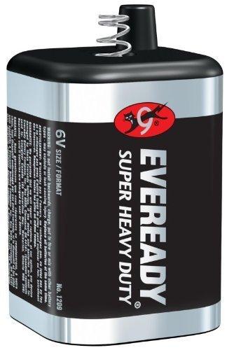 Lot of 10 Eveready Classic 509 (1209) 6 Volt, Spring Top Lantern Battery - Bulk Pack