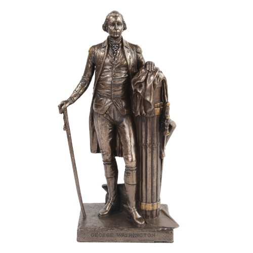 9.5 Inch George Washington Standing Figurine Statue with Walking Stick