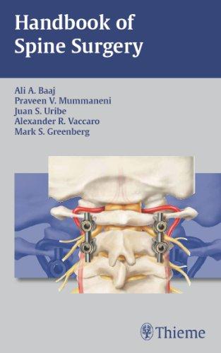 Handbook of Spine Surgery (1st 2011) [Baaj, Mummaneni, Uribe, Vaccaro & Greenberg]