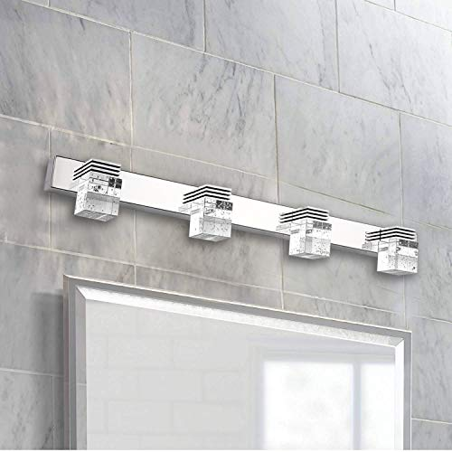 Ganeed LED Vanity Lights,12W Modern Crystal Bathroom Light Fixtures,LED Vanity Lights Over - Mirrors Bathroom Splash Over