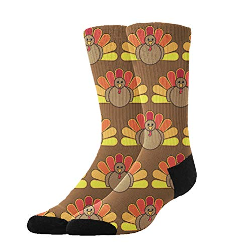 KYWYN Women's Cute Thanksgiving Turkey Winter Super Soft Warm Cozy Slipper Socks,Dress Socks Gift Halloween/X-mas/Holiday -