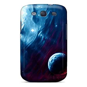 Galaxy S3 Hard Back With Bumper Cases Covers Blue Space