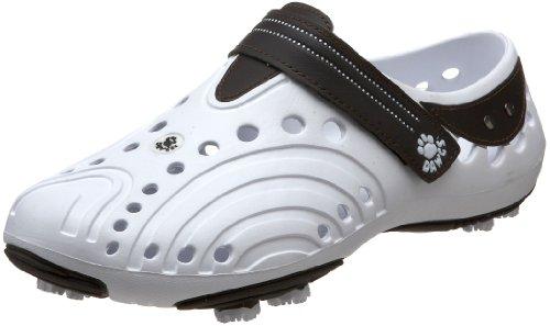 (DAWGS Men's Spirit Lightweight Golf Shoe,White/Dark Brown,16 M)