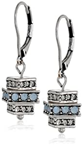 Kenneth Cole New York Stacked Square Drop Earrings