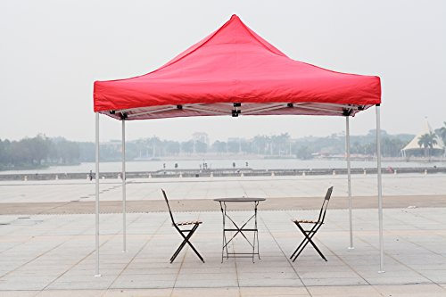 American Phoenix 10x10 10x20 Multi Color [Aluminum Frame] Light Weight Portable Event Canopy Tent, Party Tent Gazebo Canopy Commercial Fair Shelter Car Shelter Wedding Party Easy Pop Up (Red, 10x10) (Canopy With Lights For Wedding)