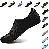 VIFUUR Footwear Indoor Slipper Yoga Sock Shoes Comfort Water Shoes for Men Women C Black 38/39