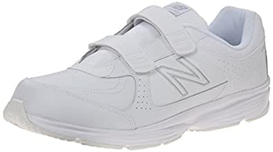 New Balance Men's MW411 Health Walking Shoe,White,10 2E US
