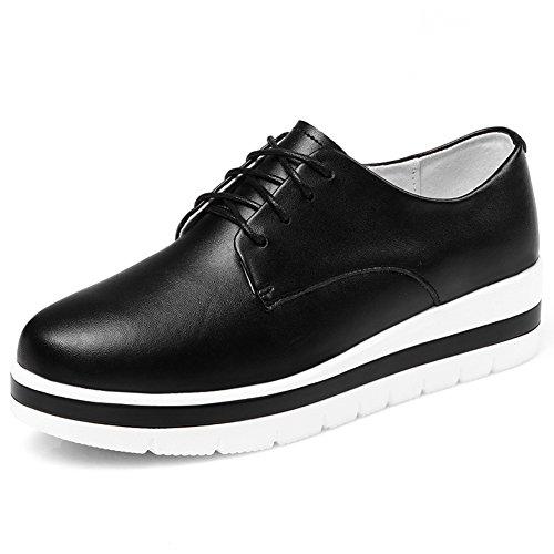 Primavera Zapatos De Suela Gruesa Plataforma,Jurchen Zapatos Con Cuero Planos,Versión Coreana De Los Zapatos De Joker,Los Zapatos De Las Mujeres B