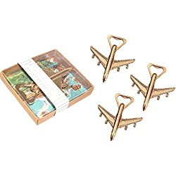 Yansanido Pack of 12 Airplane Bottle Opener Gift Box Air Plane Travel Beer Bottle Opener Party Favor Wedding Birthday Decorations (12pcs Gift box)