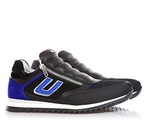 4US - Schwarz-blaue Schuhe aus Leder und Wildleder, die richtige Wahl für diejenigen, Jungen