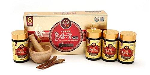 Korean 6years Root Red Ginseng Gold Extract_250g(8.8oz) X 4ea by Hong Sam Jeong