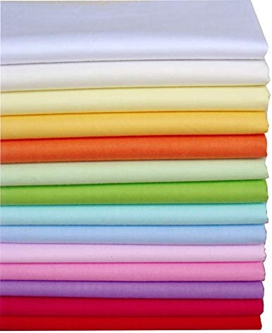 Amazon Com 15 7 X19 7 14pcs Twill Solid Cotton Fabric For Sewing Fat Quarters Fabric Bundles Quilting Supplies