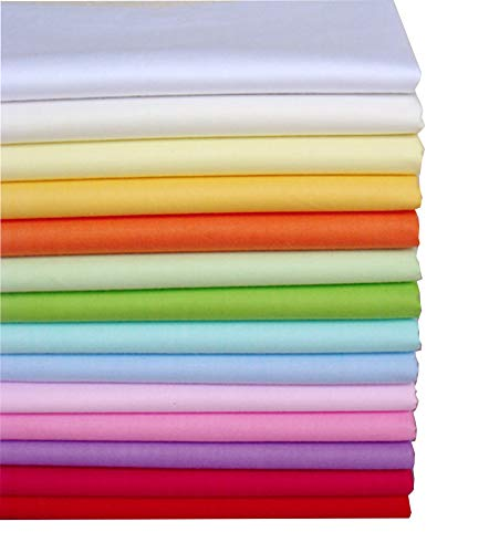 14pcs 15.7 x 19.7 Plain Solid Cotton Fabric For Sewing Quilting Patchwork Textile Tilda Doll Body Cloth BYY FABRIC FACTORY