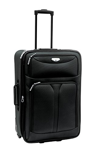 Samboro Luggage Bon Voyage Luggage Excursion 28-inch Black Expandable Rolling Upright Suitcase
