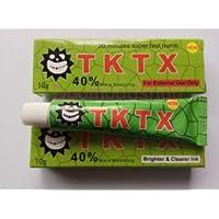 Jadeshay Tktx Tattoo Cream - Ungüento para aliviar el Dolor de tatuadores para Tatuajes de Tatuajes de Cejas, Amarillo/Rojo/Blanco/Azul/Verde