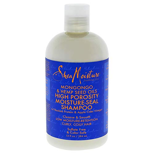 (Shea Moisture Mongongo & Hemp Seed Oils High Porosity Moisture-seal Shampoo, 13 Ounce)