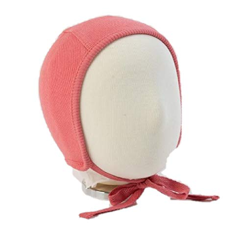 Unisex Baby Bonnet Soft Cotton Pilot Hat Cap for Newborns, Infants and Toddlers (6 Months, Berry Pink) ()