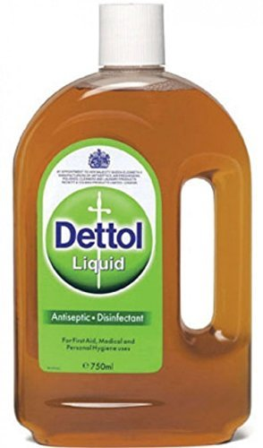 Dettol Original First Aid Antiseptic Liquid 25.35 oz (Pack of 5) by Dettol