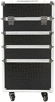 MCTECH® 4 in 1 Estuche cosmético Trolley Beauty Case ALU Suitcase Estuche Maletín para Maquillaje Estuche para cosméticos XXL, Negro: Amazon.es: Iluminación