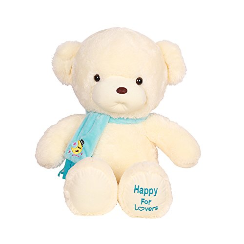 [COFFLED 12 Inch Super Soft Bear Doll Baby Pillow; Plush Stuffed Animal Toys for Toddler And Infant First Bedtime Toys and Nursery Room] (Diy Star Wars Dog Costumes)